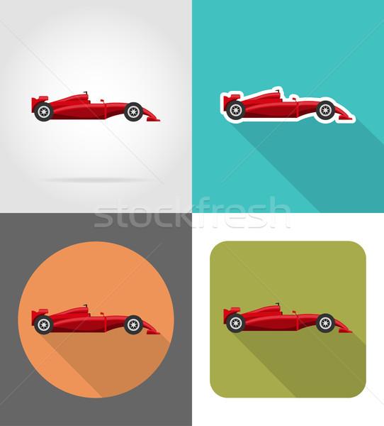 sport car flat icons vector illustration Stock photo © konturvid