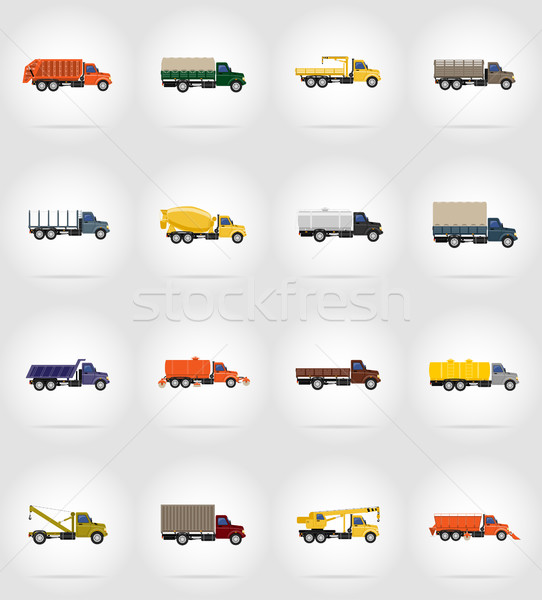 Stock photo: truck flat icons vector illustration