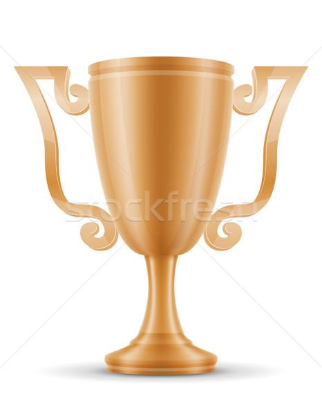 cup winner bronze stock vector illustration Stock photo © konturvid