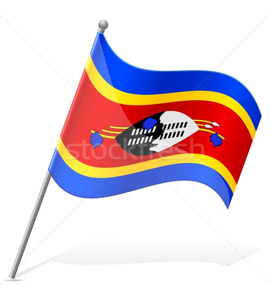 Bandera Swazilandia aislado blanco mundo mundo Foto stock © konturvid
