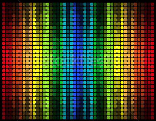 Foto stock: Abstrato · gráfico · equalizador · isolado · preto