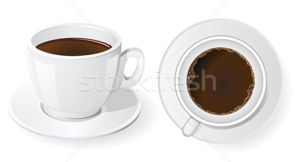 Xícaras de café café ilustração projeto cor Foto stock © konturvid