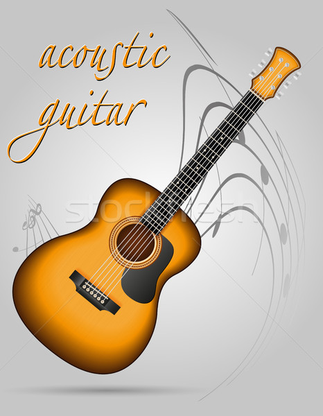 acoustic guitar musical instruments stock vector illustration Stock photo © konturvid