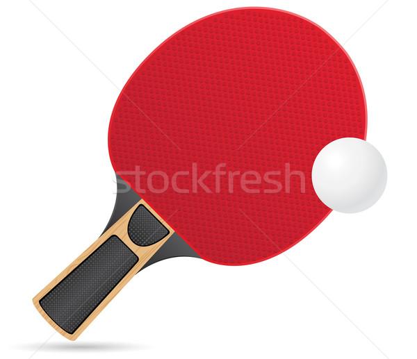 Bola tênis de mesa ping-pong isolado branco Foto stock © konturvid