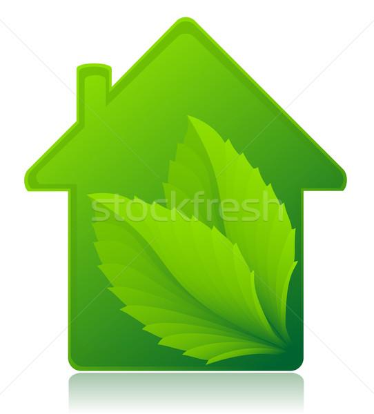 Ecológico casa aislado blanco naturaleza casa Foto stock © konturvid