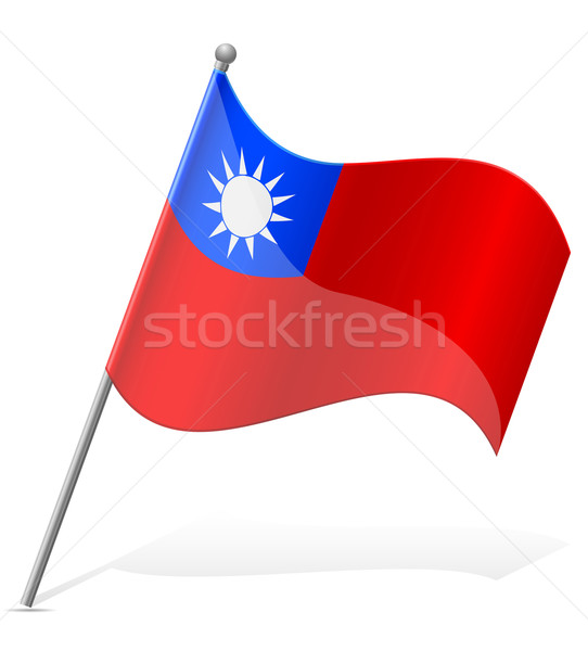 flag of Taiwan vector illustration Stock photo © konturvid