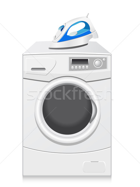 icons are a washing-machine and iron Stock photo © konturvid