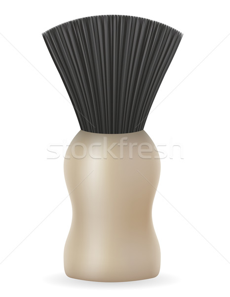 shaving brush vector illustration Stock photo © konturvid