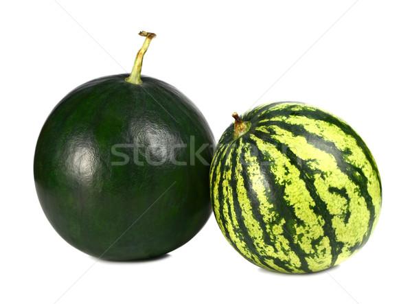 Photo stock: Pastèque · isolé · blanche · fruits · fond · vert