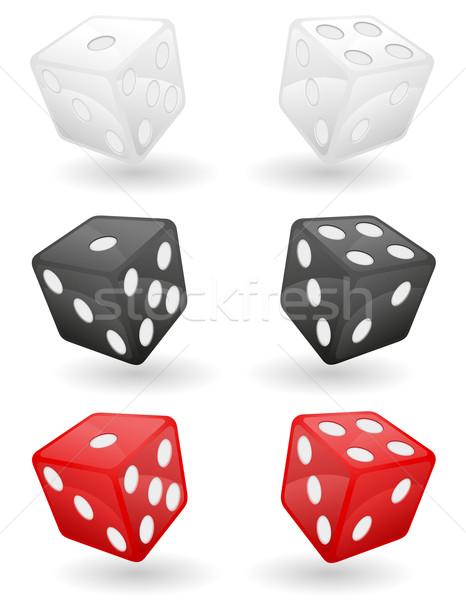 colored casino dice vector illustration Stock photo © konturvid