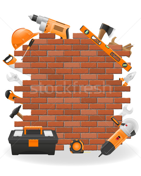 Stock photo: tools for repair concept icons vector illustration