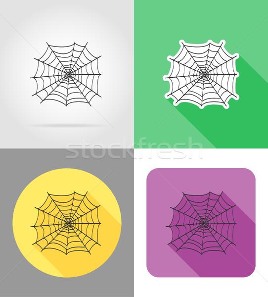 örümcek simgeler yalıtılmış doğa eğlence hayvanlar Stok fotoğraf © konturvid
