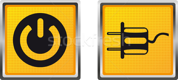 icons electricity voltage power for design vector illustration Stock photo © konturvid