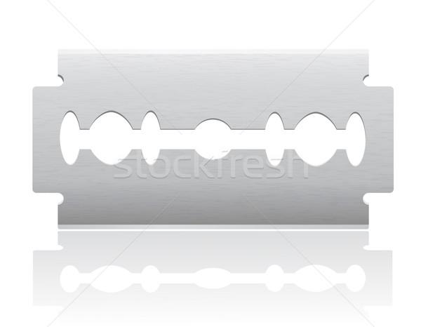 лезвия изолированный белый фон знак ножом Сток-фото © konturvid