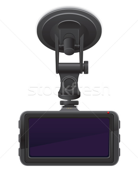 car recorder back view vector illustration Stock photo © konturvid