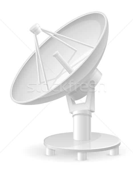 Isolé blanche téléphone radio industrie Photo stock © konturvid