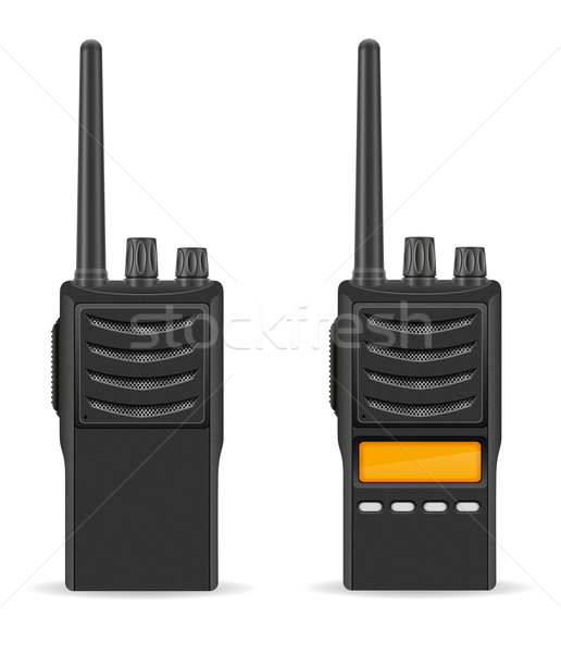walkie-talkie communication radio vector illustration Stock photo © konturvid