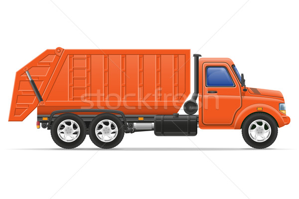 cargo truck remove garbage vector illustration Stock photo © konturvid