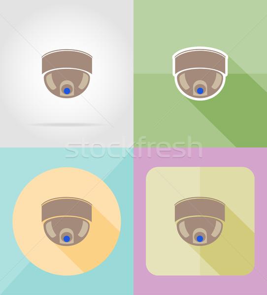 video surveillance camera for design flat icons vector illustrat Stock photo © konturvid