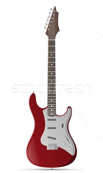 electric guitar stock vector illustration Stock photo © konturvid