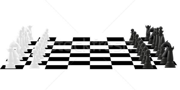 Satranç tahtası savaş satranç eğlence siyah başarı Stok fotoğraf © konturvid