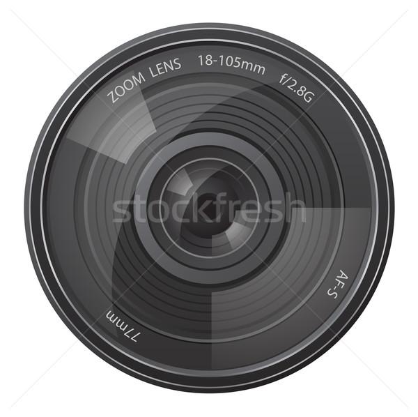 lens photo camera vector illustration Stock photo © konturvid