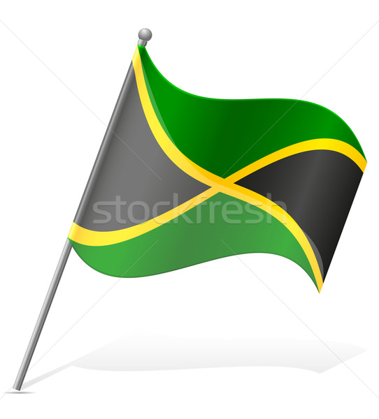 flag of Jamaica vector illustration Stock photo © konturvid