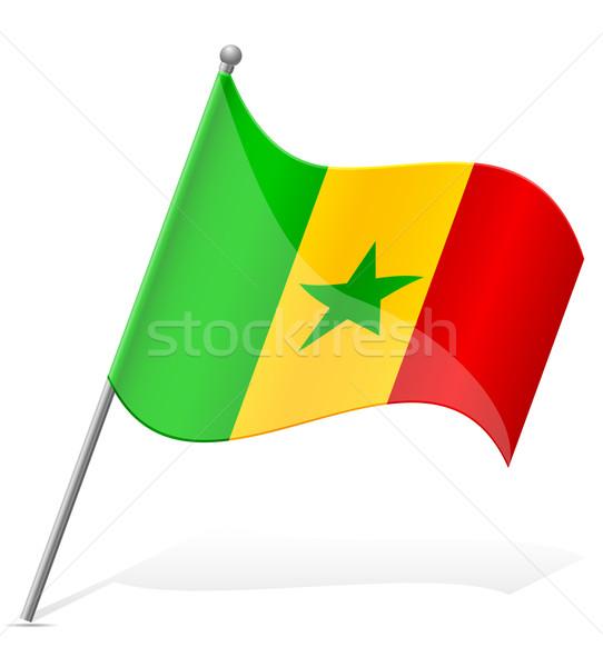 flag of Senegal vector illustration Stock photo © konturvid