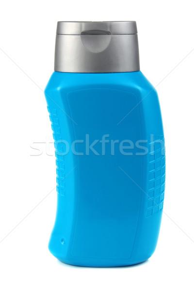 Niebieski butelki szampon odizolowany biały włosy Zdjęcia stock © konturvid
