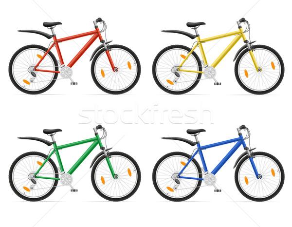 mountain bikes with gear shifting vector illustration Stock photo © konturvid