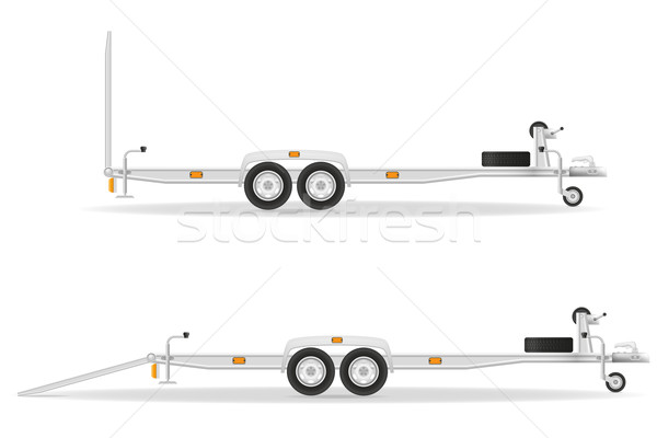 car trailer for transportation vehicles vector illustration Stock photo © konturvid