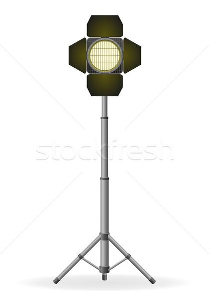Film projektör yalıtılmış beyaz ışık sanayi Stok fotoğraf © konturvid