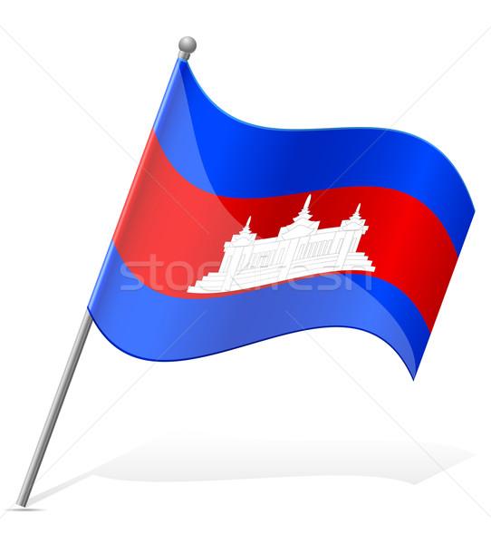 flag of Cambodia vector illustration Stock photo © konturvid