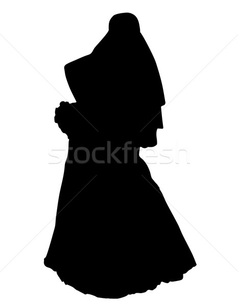 Sposa realistico silhouette isolato bianco famiglia Foto d'archivio © konturvid