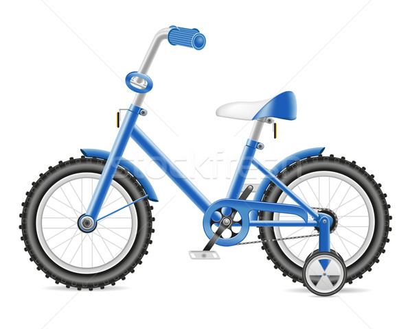 kids bicycle for a boy vector illustration Stock photo © konturvid