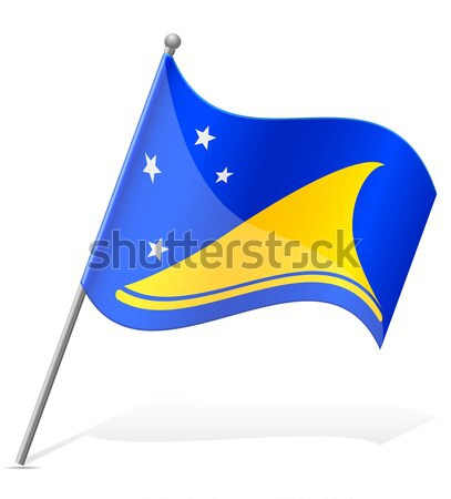 flag of Aruba vector illustration Stock photo © konturvid