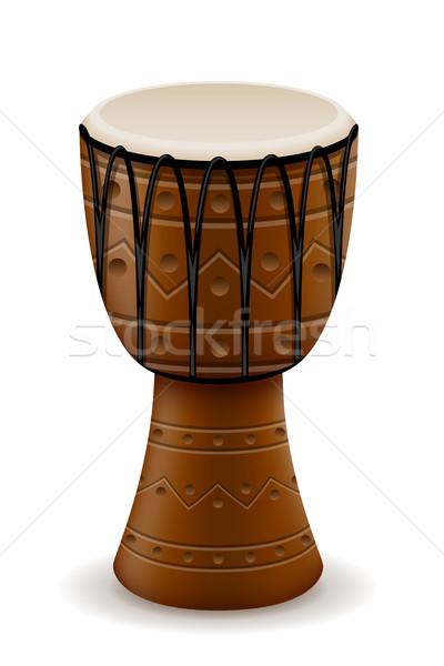 african drum musical instruments stock vector illustration Stock photo © konturvid