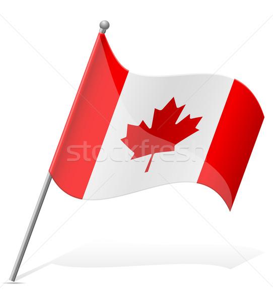 フラグ カナダ 孤立した 白 世界中 世界 ストックフォト © konturvid