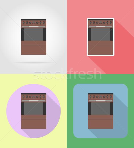 ストーブ 家庭 キッチン アイコン ベクトル ストックフォト © konturvid
