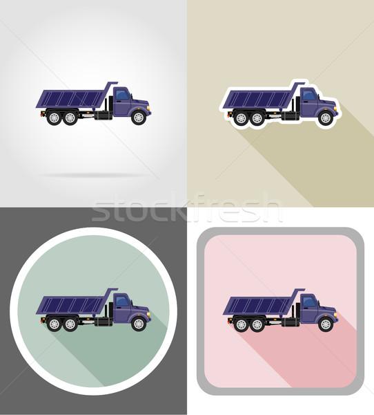 груза грузовика транспорт товары иконки вектора Сток-фото © konturvid