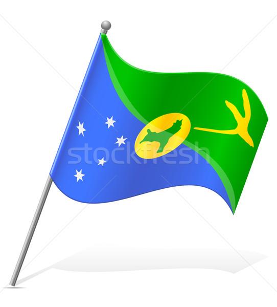 flag of Christmas Island vector illustration Stock photo © konturvid