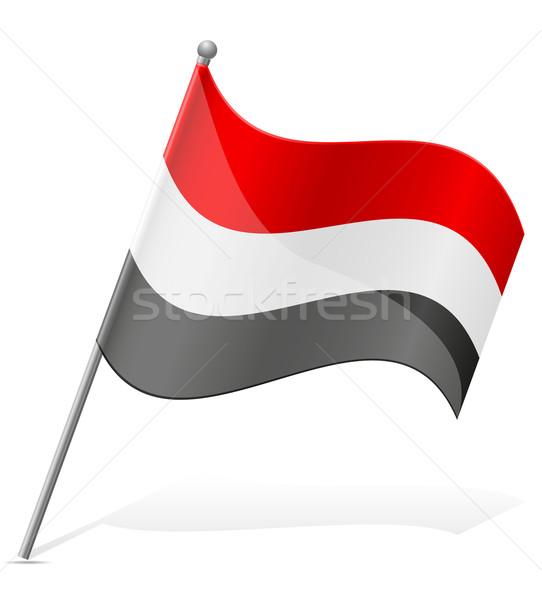 flag of Egypt vector illustration Stock photo © konturvid