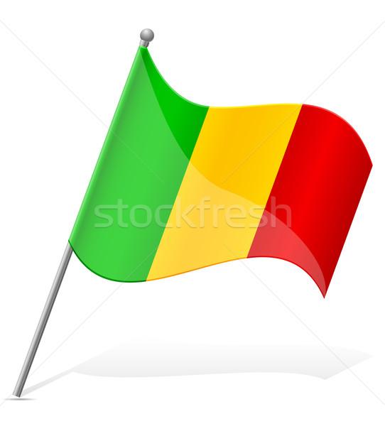 flag of Mali vector illustration Stock photo © konturvid