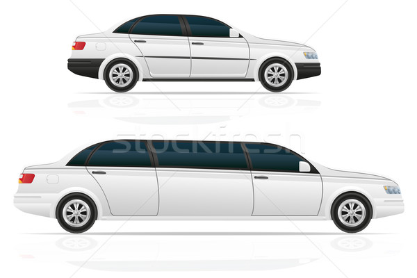 car sedan and limousine vector illustration Stock photo © konturvid