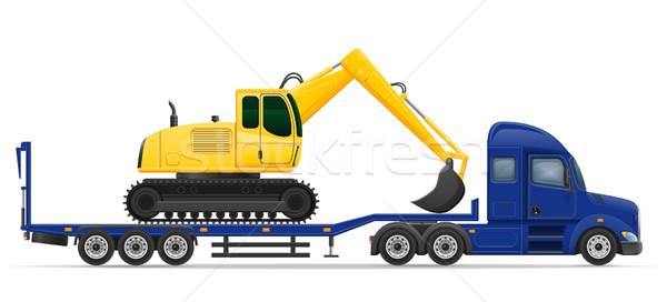 Teherautó házhozszállítás közlekedés építkezés gép izolált Stock fotó © konturvid