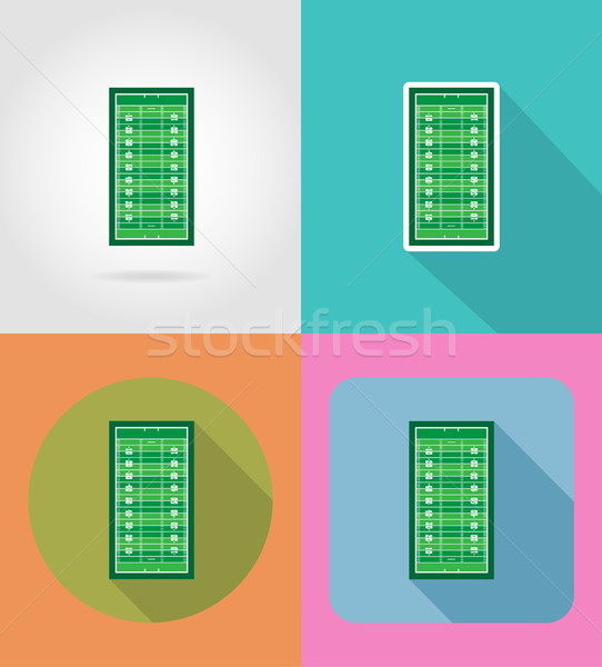 field for american football flat icons vector illustration Stock photo © konturvid