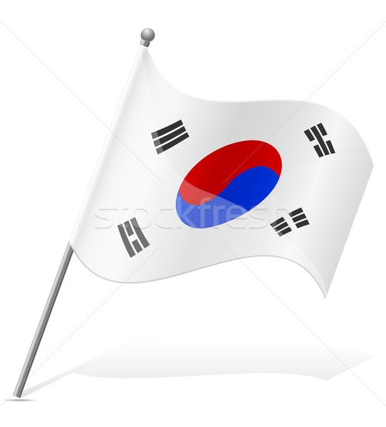 flag of South Korea vector illustration Stock photo © konturvid
