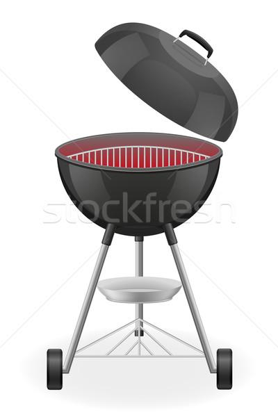 Stockfoto: Open · barbecue · warmte · geïsoleerd · witte · voedsel
