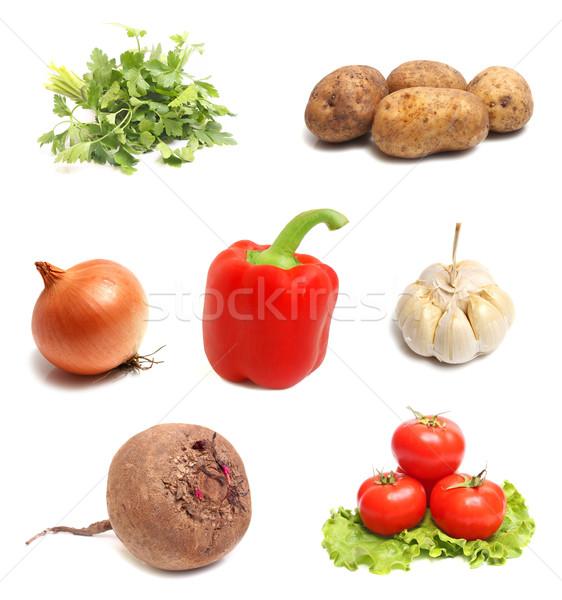 Legumes legumes frescos isolado branco mercado cenoura Foto stock © konturvid