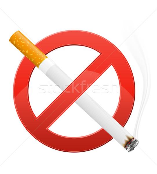 Segno fumare isolato bianco design salute Foto d'archivio © konturvid